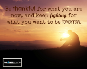 Be thankful for what you are now_n
