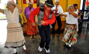 Forever young elderly dancing from_saturday night fever music