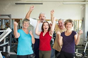 Forever young -Happy-elderly-group-in-a-gym-