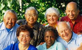 Forever young multiracial happy aging images