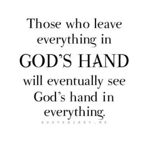 Leave in God's hands_n